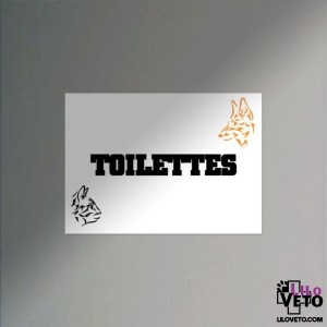 PANNEAU TOILETTES TRIBAL...