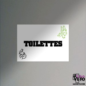 PANNEAU TOILETTES TRIBAL VERT
