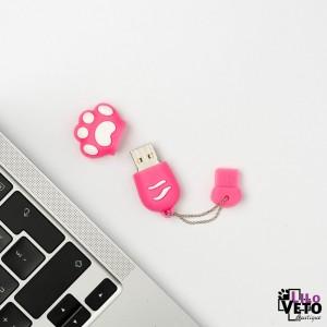 CLÉ USB 8GO PATTE CHAT ROSE