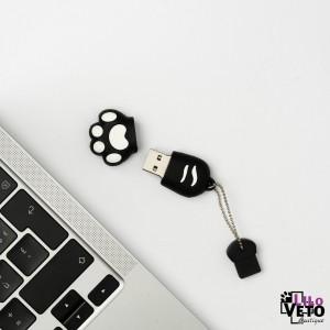 CLÉ USB 8GO PATTE CHAT NOIRE