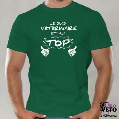 T-SHIRT VÉTÉRINAIRE AU TOP